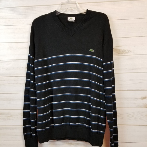 bd8a4a0a7a Lacoste Other - Lacoste men s navy striped pullover sweater